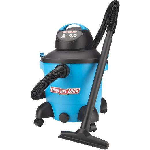 Channellock 8 Gal. 4.0-Peak HP Wet/Dry Vacuum